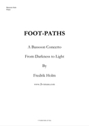 Foot-paths a bassoon concerto by Fredrik Holm
